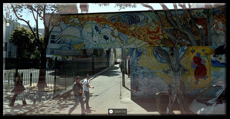 Google Street View Hybrid Wall